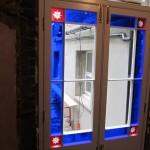 Gunstock stile doors
