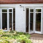 Double Bi-Folding door external view