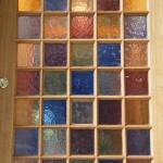 Individual panes of hand made glass in oak front door