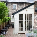French door set with fine glazing bars